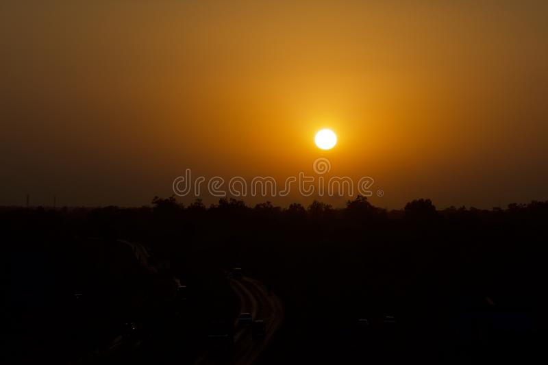 Sunset look. Sun set Time. use image in Background or as wallpaper stock photos