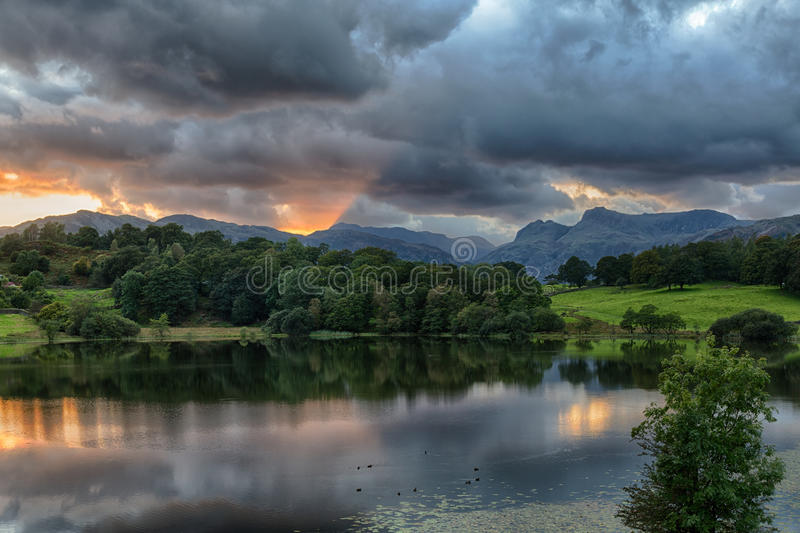 Download Sunset At Loughrigg Tarn In Lake District Stock Photo - Image: 26729194