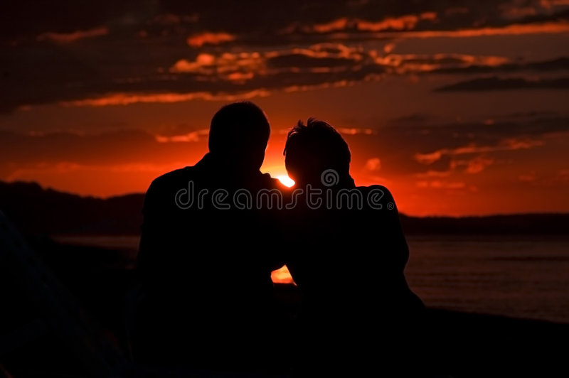 Sunset love couple
