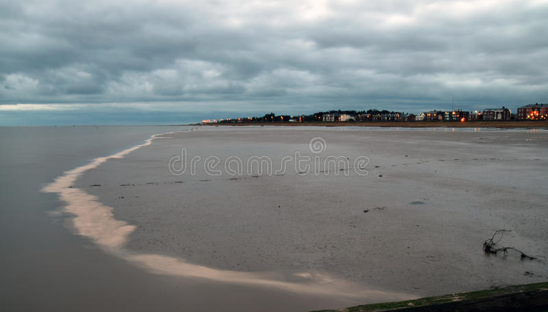 After sunset at Lytham in Lancashire royalty free stock image