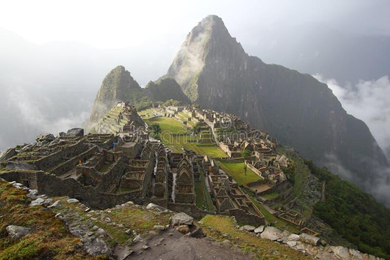 Sunset of Machu Picchu stock photos