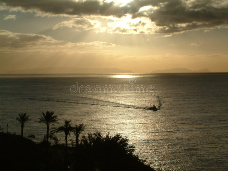 sunset madeira zdjęcie royalty free