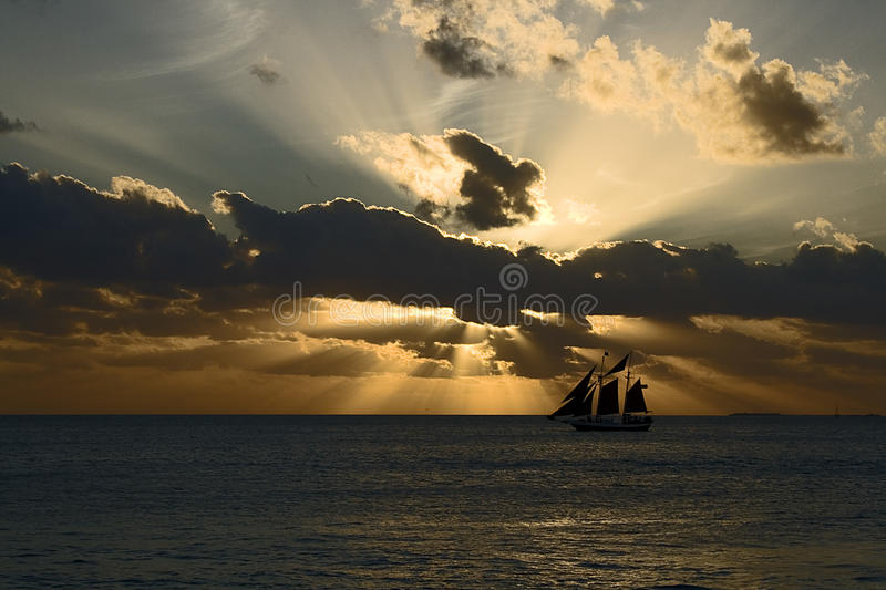 Sunset on Mallory Square royalty free stock photo