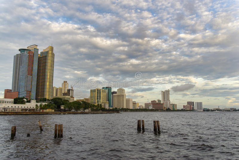 Sunset in Manila Bay. Philippines royalty free stock photography