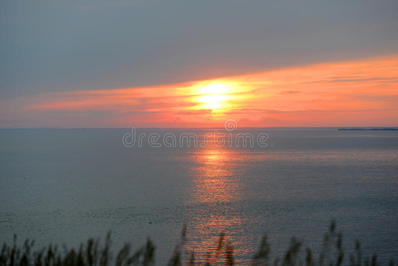 Sunset on Martha's Vineyard, MA, USA stock image