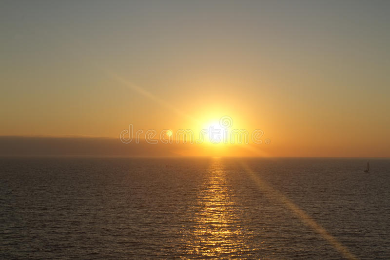 Sunset at mazatlan, mexico. Beautiful sunset over the sea in mazatlan, mexico royalty free stock images