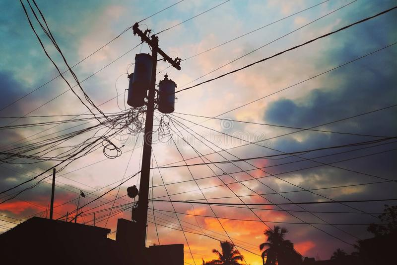 Sunset melody... Sunset melody warm color beauty nature city sky royalty free stock image