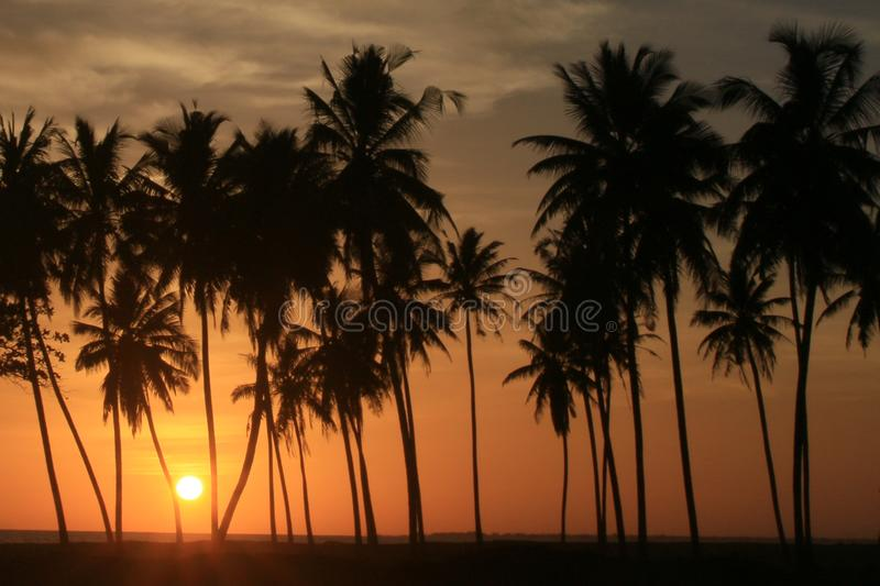 Sunset in Meulaboh, Indonesia. A view of the sunset from Meulaboh City. The westernmost province of Indonesia is known as the Veranda of Mecca stock photos