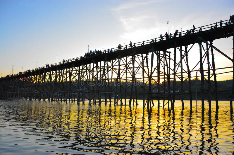 Sunset at Mon Bridge royalty free stock images