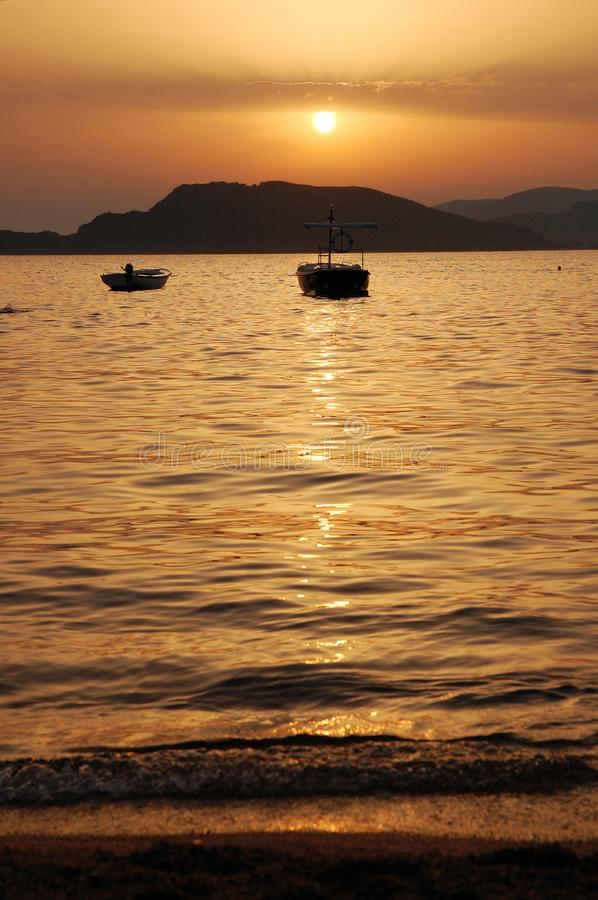 Download Sunset in Montenegro stock image. Image of sunset, sand - 8244079