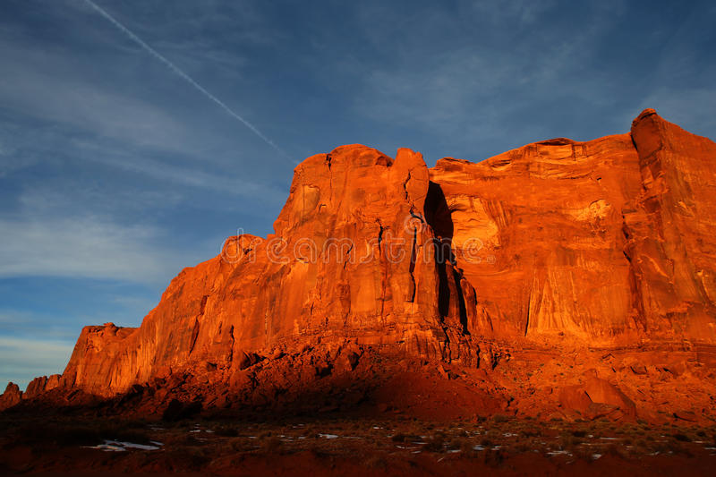 Download Sunset at Monument Valley stock image. Image of land - 28698747