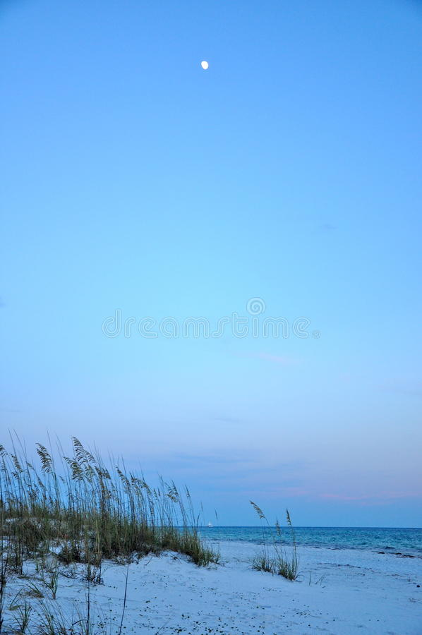 Sunset and moon royalty free stock image