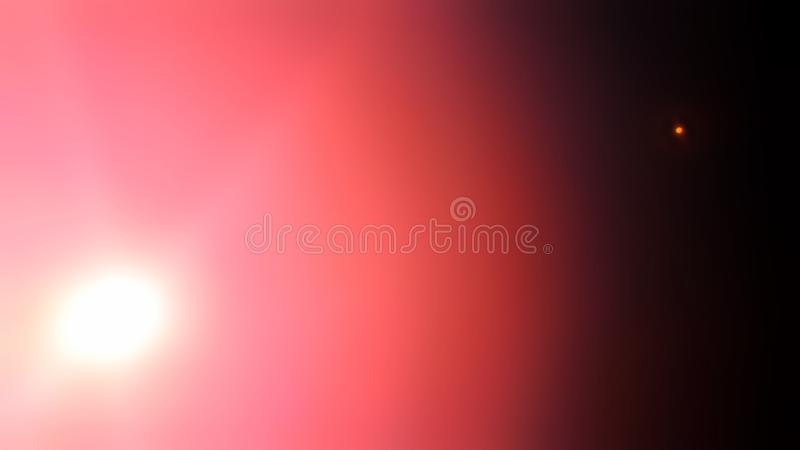 Sunset and moonrise Nature sunset background sun and moon concept sunset afternoon at sea on horizon summer pink Baltic Sea stock image