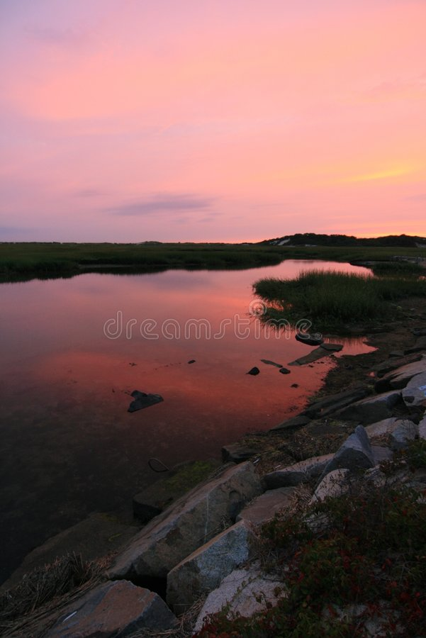 Sunset at the Moors stock photography