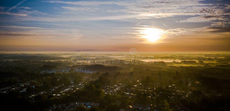 Sunset morning in the Nethetlands stock photo