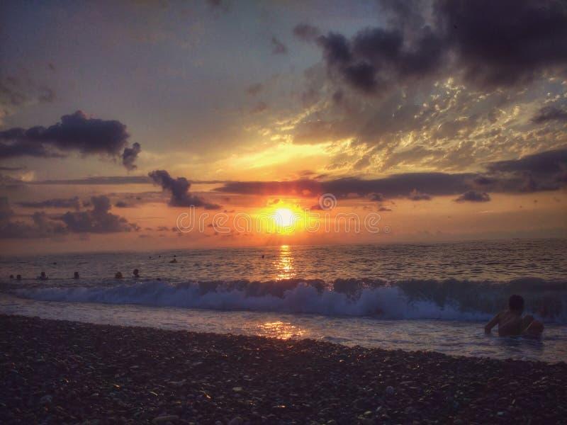 sunset morza czarnego zdjęcia royalty free