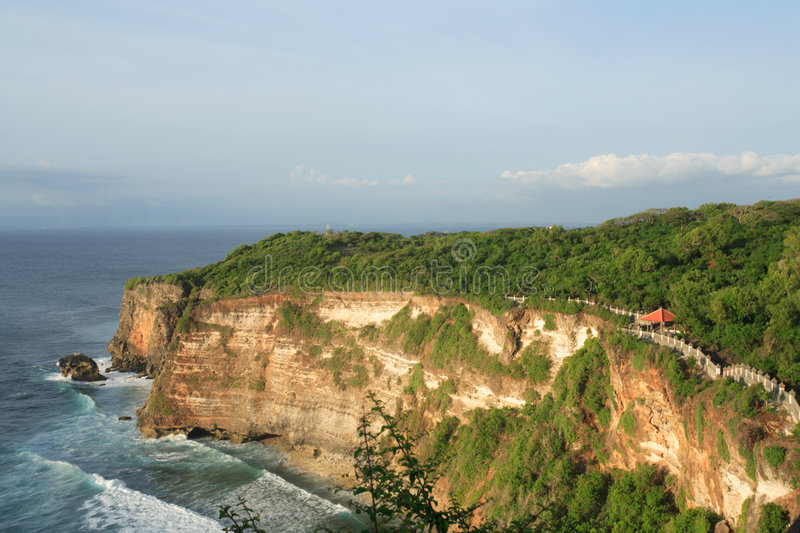 Sunset at Mount Uluwatu royalty free stock photography