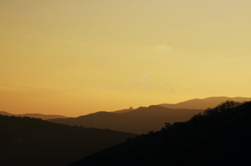 Download Sunset in mountain stock photo. Image of south, environment - 2320426
