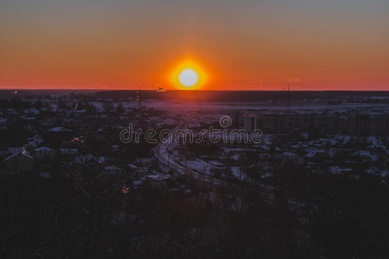 Download Sunset on the mountain stock photo. Image of hope, backlit - 83716394
