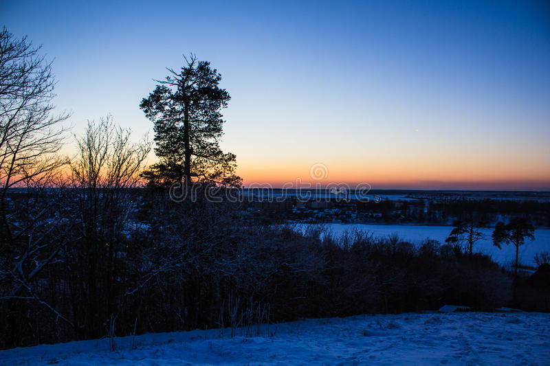 Download Sunset On The Mountain Stock Photo - Image: 83716433