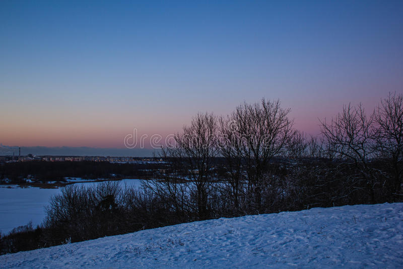 Download Sunset On The Mountain Stock Photo - Image: 83716439