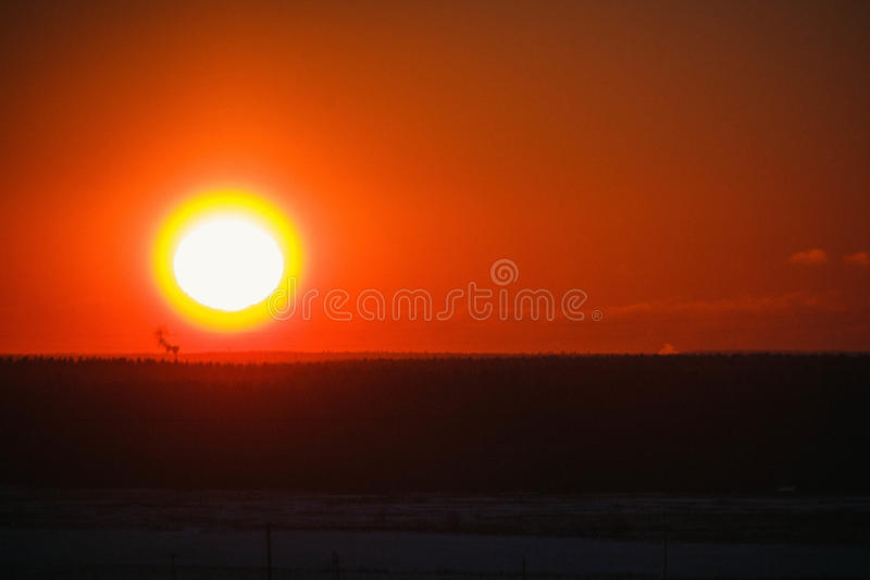 Download Sunset on the mountain stock image. Image of mountain - 83716451