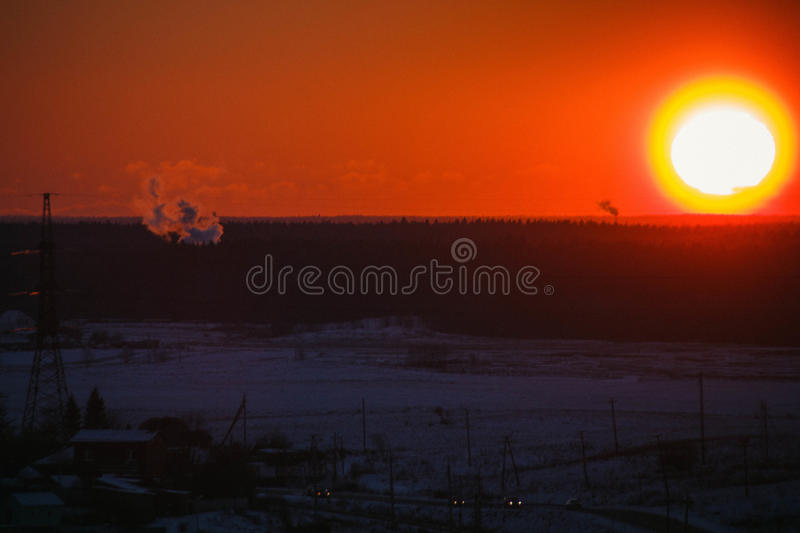 Download Sunset On The Mountain Stock Photo - Image: 83717460