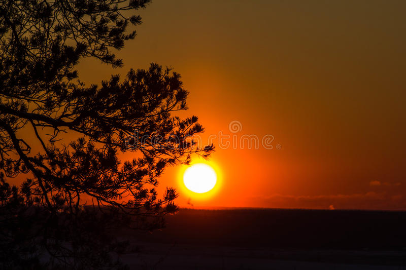 Download Sunset on the mountain stock photo. Image of bright, nature - 83717578