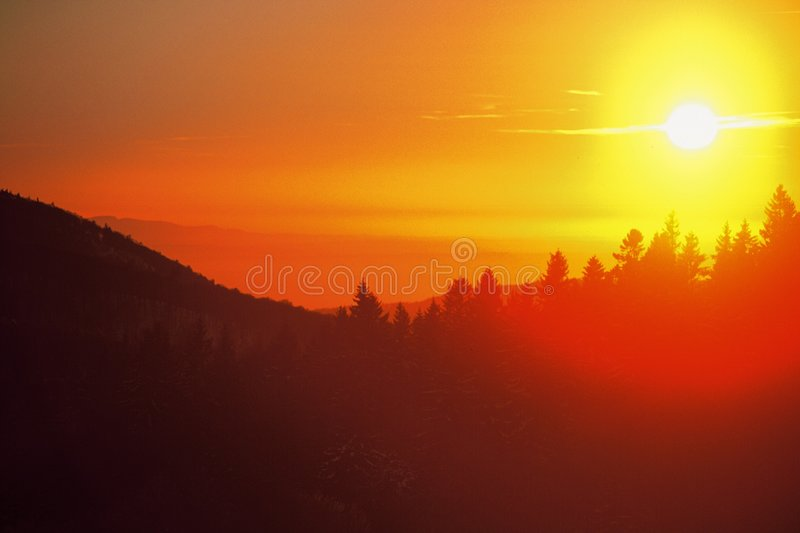 Download Sunset on mountains stock image. Image of mountains, sunset - 135833