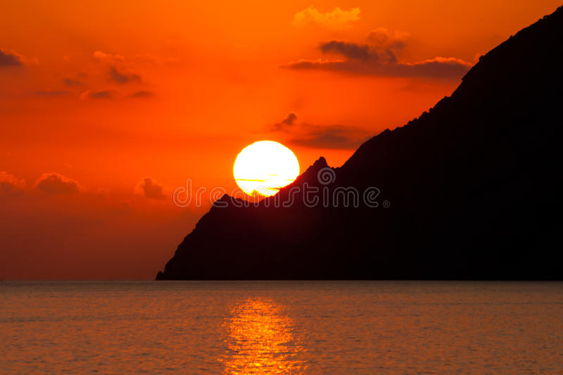 Download Sunset in the mountains stock photo. Image of dusk, seascape - 17910828