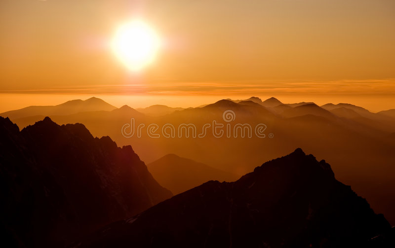 Sunset in mountains 2