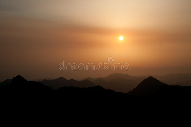 Download Sunset in the mountains stock photo. Image of nature - 25865556
