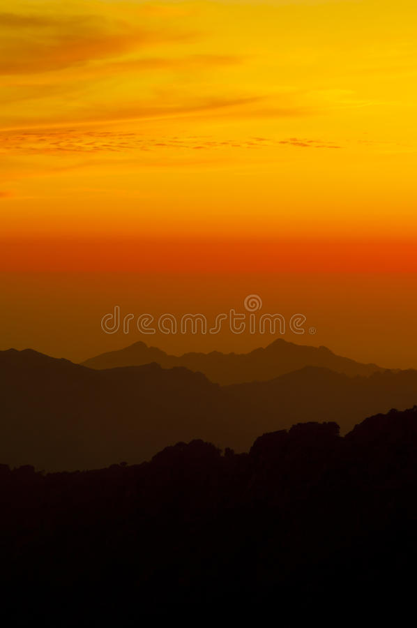 Download Sunset In The Mountains Of Corsica Stock Photo - Image of nightfall, mountains: 21287522