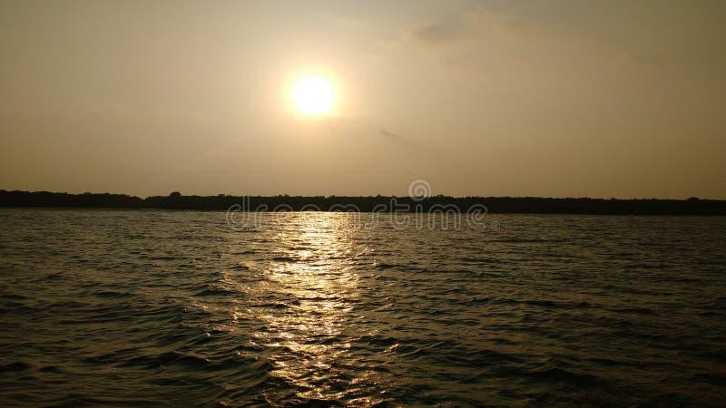 Sunset in the mystic horizon of Sundarban royalty free stock photo