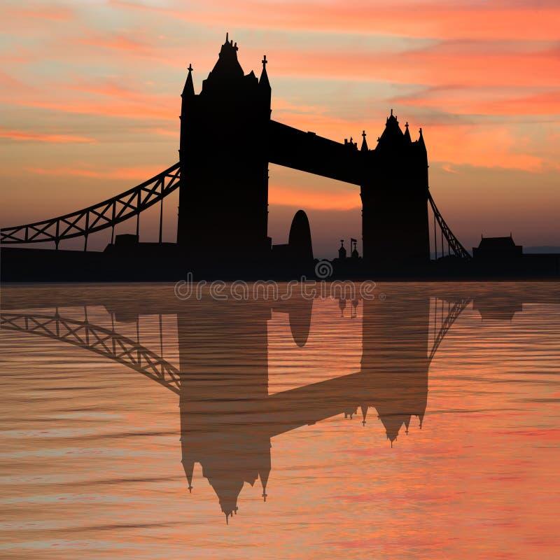 sunset na most tower ilustracji