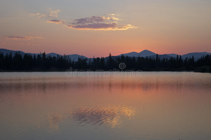 Sunset near Mount Evans royalty free stock photo