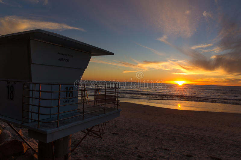 Sunset near San Diego, California stock photos