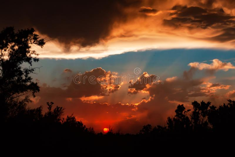 Sunset in New Mexico royalty free stock photos