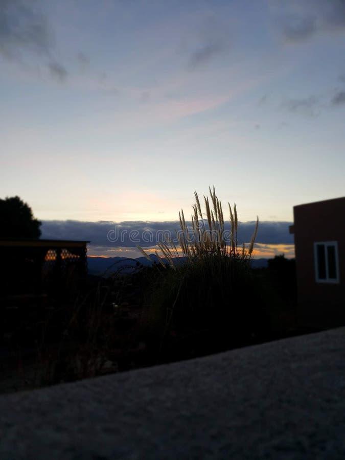 Sunset. New mexico royalty free stock photos