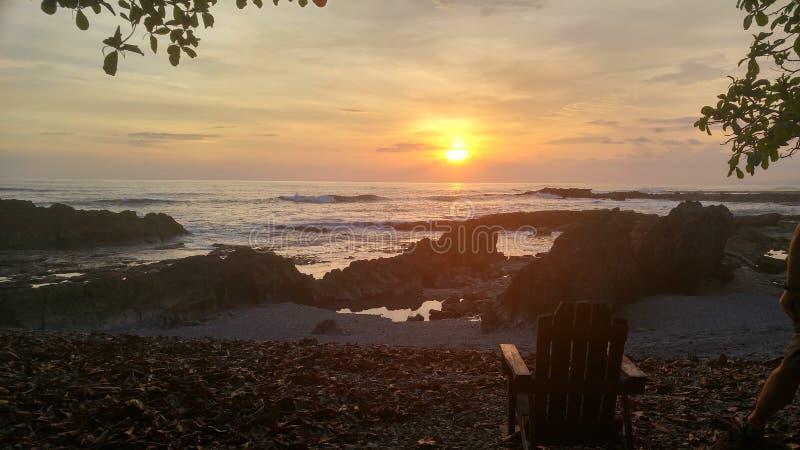 Sunset on the Nicoya Peninsula, Costa Rica royalty free stock images