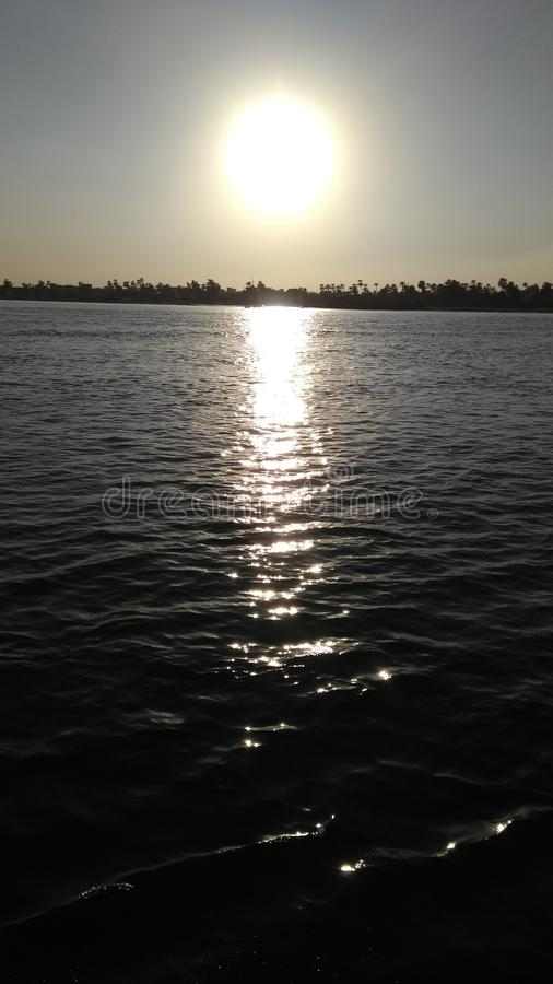 Sunset on the Nile stock photography
