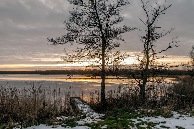 Sunset Norfolk Broads stock photography