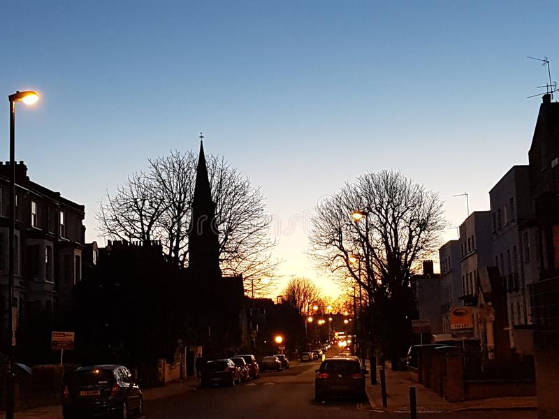 Sunset north London royalty free stock photography