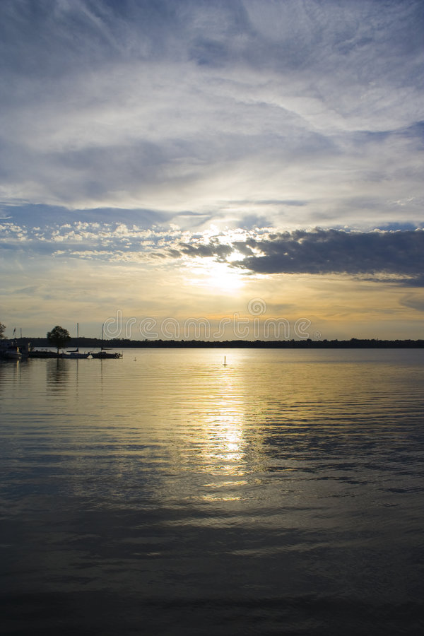 Sunset on a northern Canadian lake 3 royalty free stock photos
