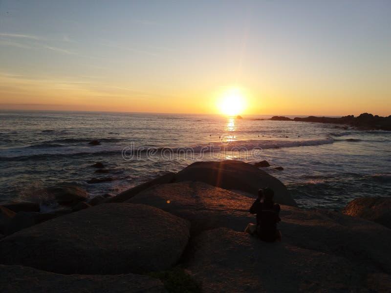 Sunset oblivion. stock image