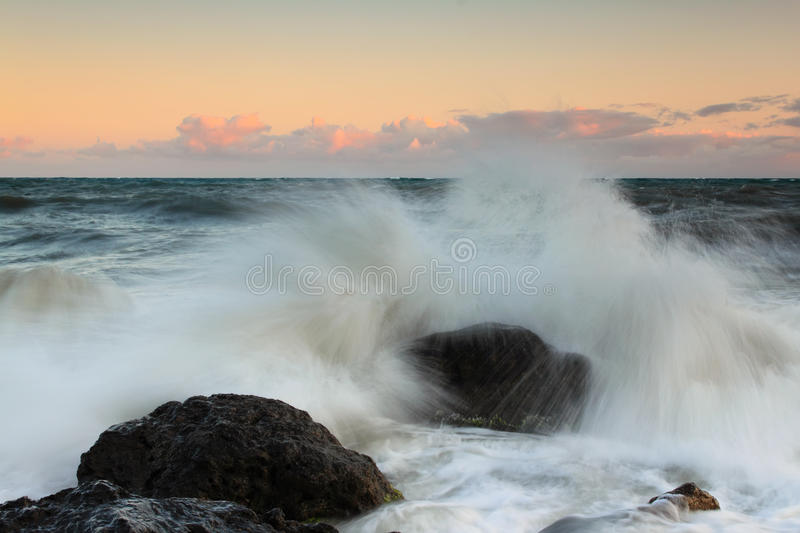 Download Sunset on the ocean stock photo. Image of landscape, cloud - 22342222