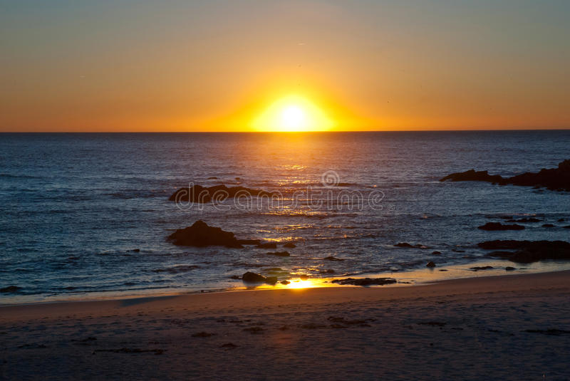 Download Sunset at ocean stock image. Image of landscape, scenery - 27565715