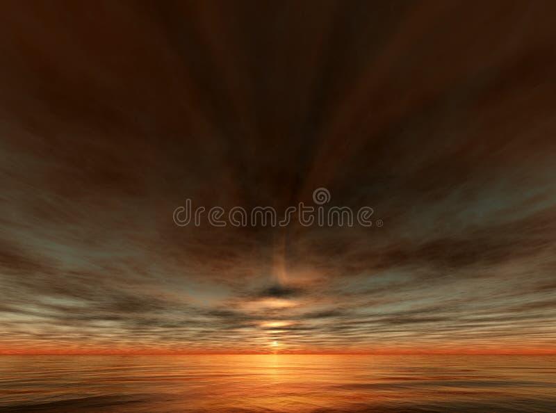Download Sunset and ocean stock illustration. Illustration of dusk - 6302787