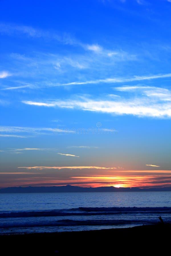 Sunset Ocean Blue stock photography