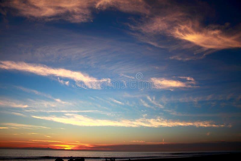 Sunset Ocean Blue royalty free stock image